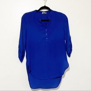 Golden State royal blue high lo tunic